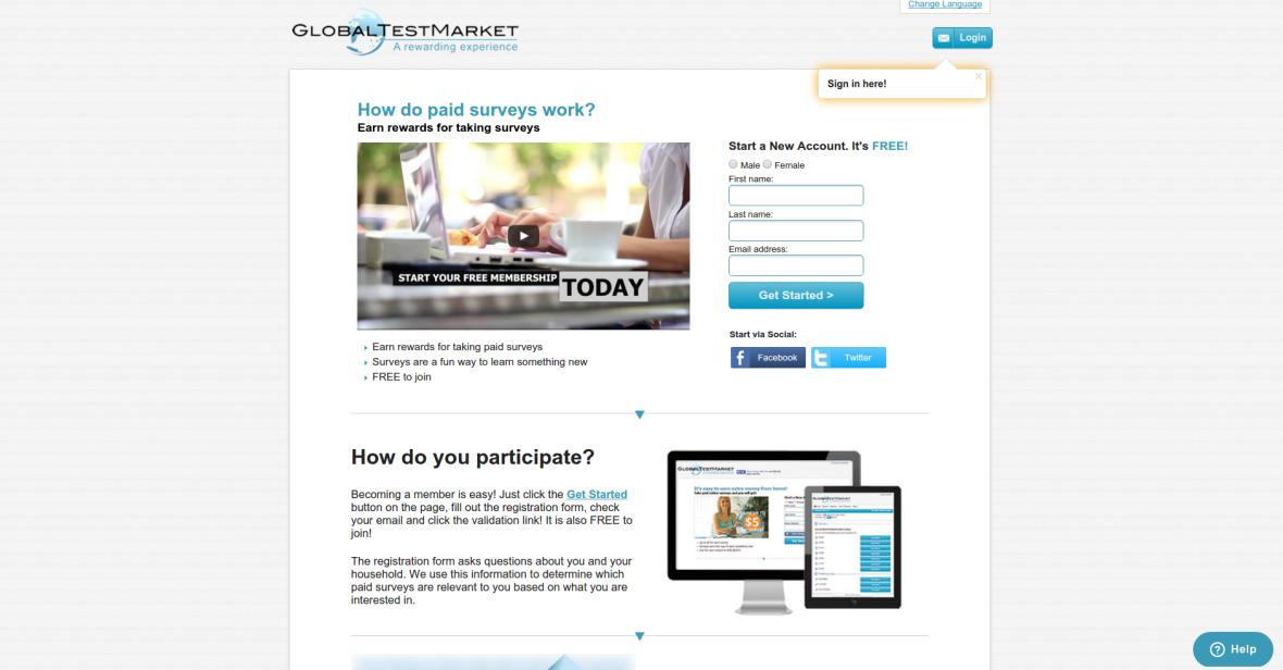 answer online survey to make money global test market