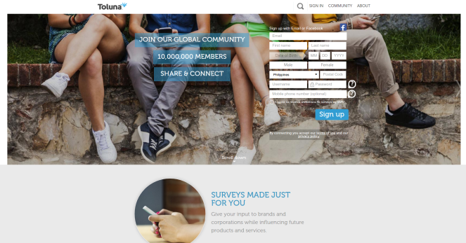 answer online surveys to make money toluna