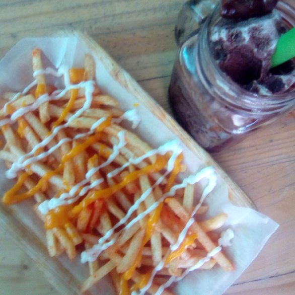 Choosy Fries, Php59 and Nutella Rocker shake, Php69
