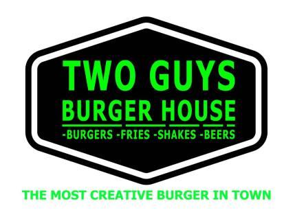 two guys burger house logo