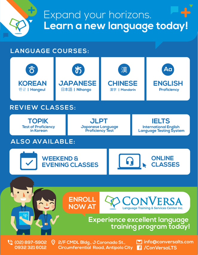 classes at conversa language school in antipolo